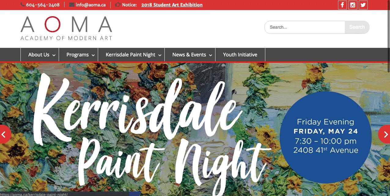 AOMA Homepage Screenshot