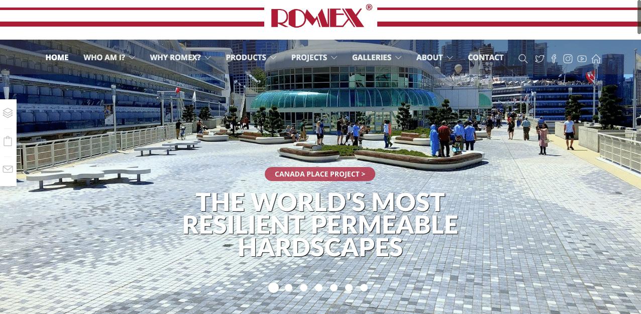 ROMEX CANADA Homepage Screenshot
