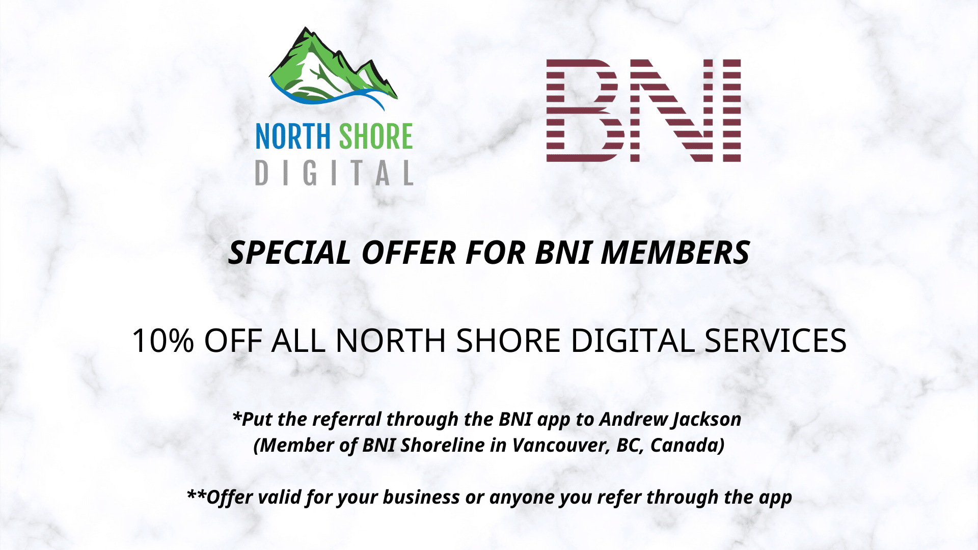Special Offer to BNI Members