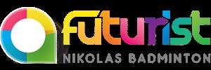 Futurist Nikolas Badminton Logo 600x200px